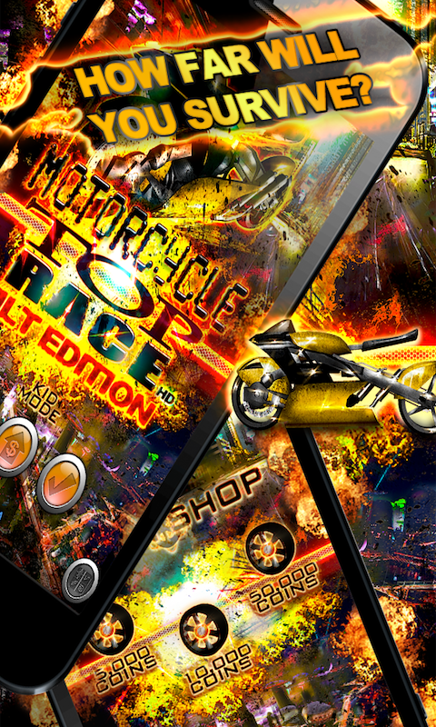 MOTOCYCLE TOP RACE SCREEN 2