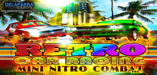 RETRO CAR RACE : Mini Nitro Combat Racing Miami